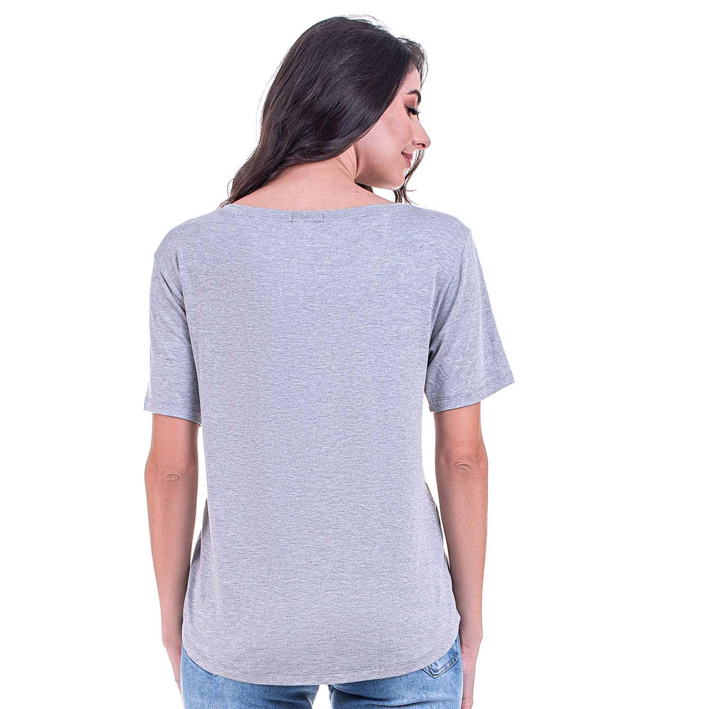 Blusa T-Shirt Bloom Bonjour Cinza