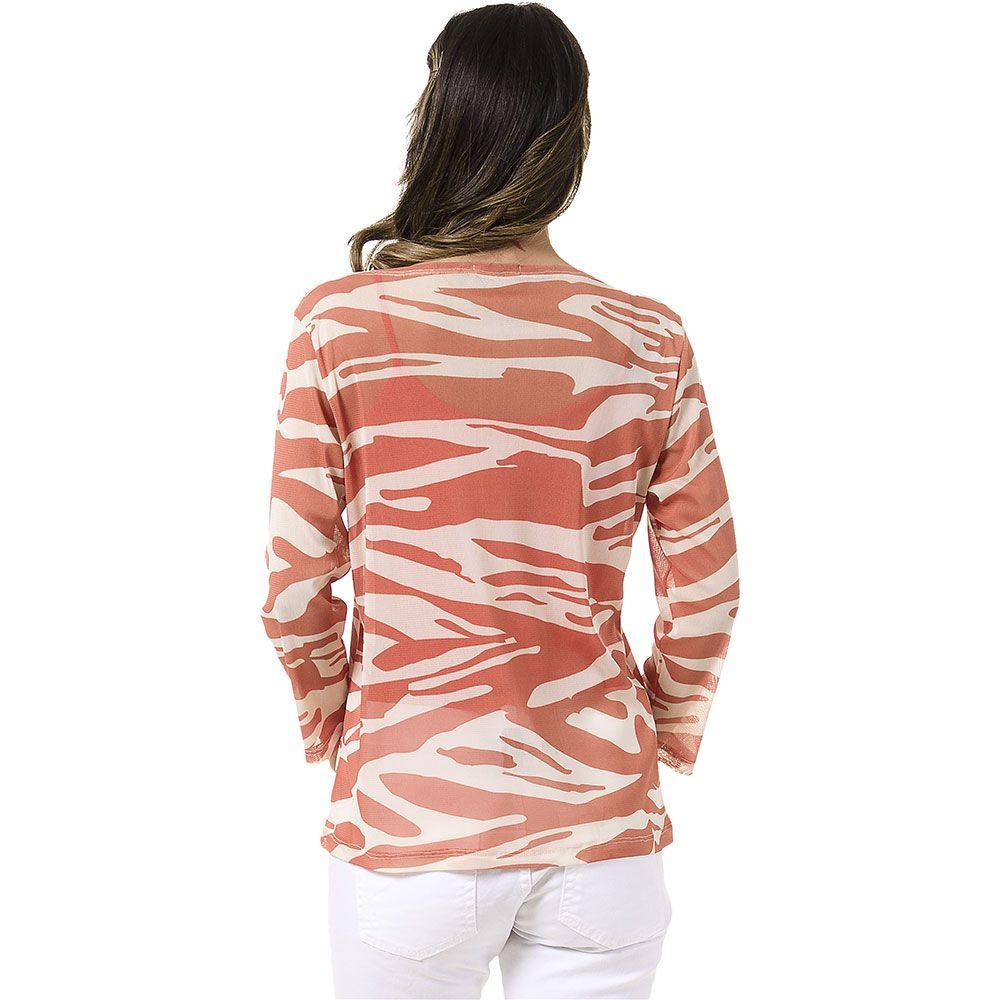 Blusa Tule Estampa Zebra