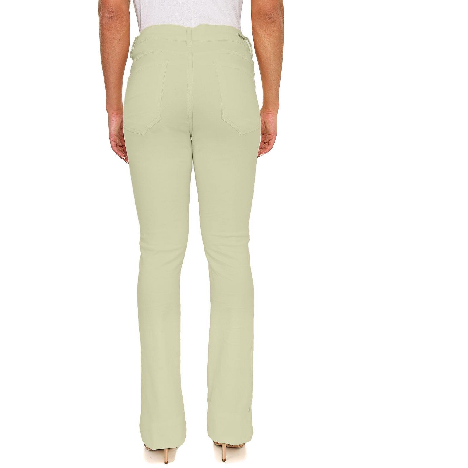 Calça Flare Color em Jeans de Moletom
