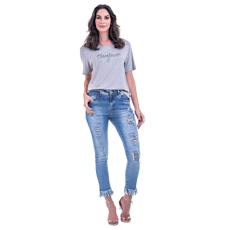 Calça Jeans Bloom Skinny Destroyed