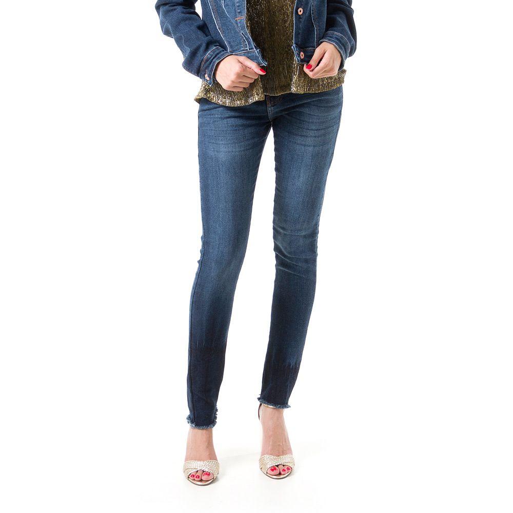 Calça Jeans Bloom Cigarrete Skinny Azul