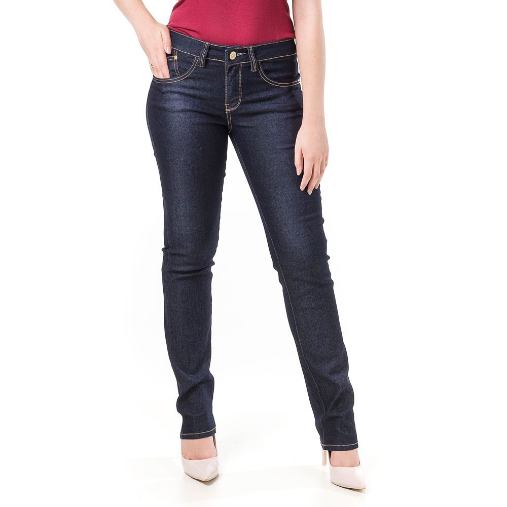 Calça Jeans Bloom Cigarrete Skinny Azul Marinho