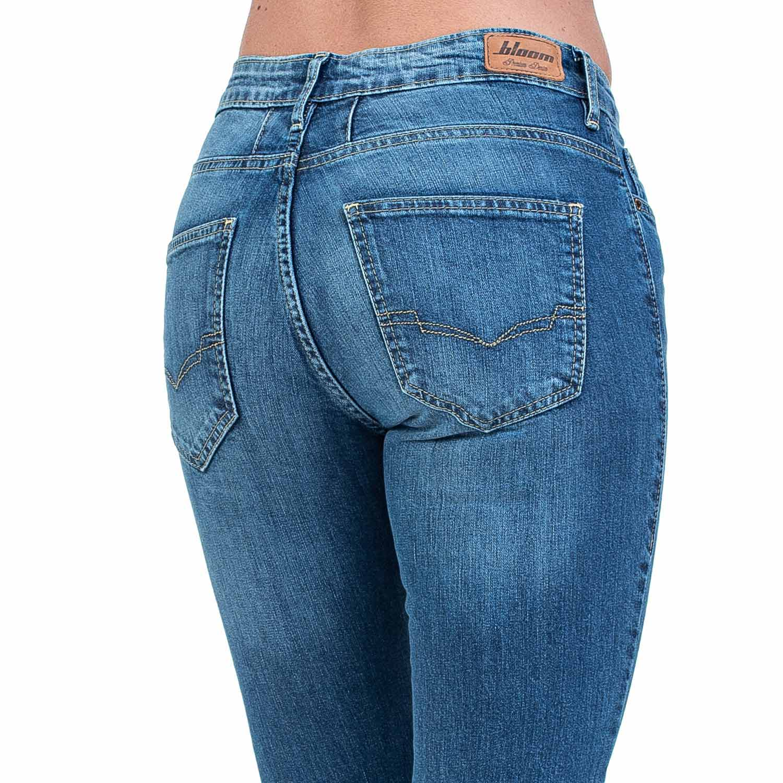 Calça Jeans Bloom Skinny Cropped Lady Azul