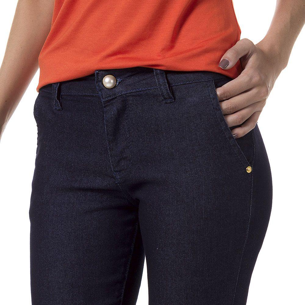 Calça Jeans Bloom Flare Azul Escuro