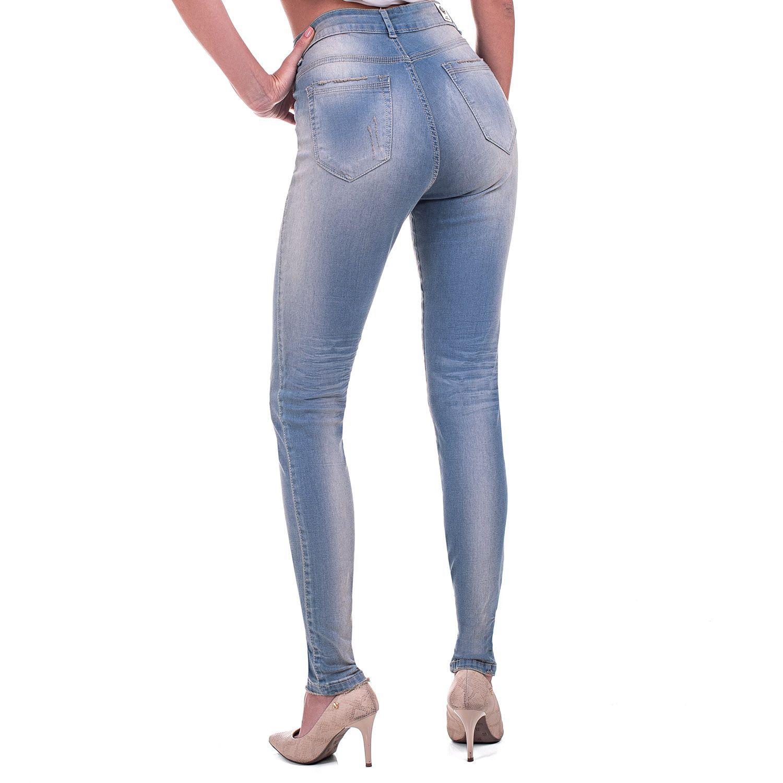 Calça Jeans Bloom Skinny Delavê
