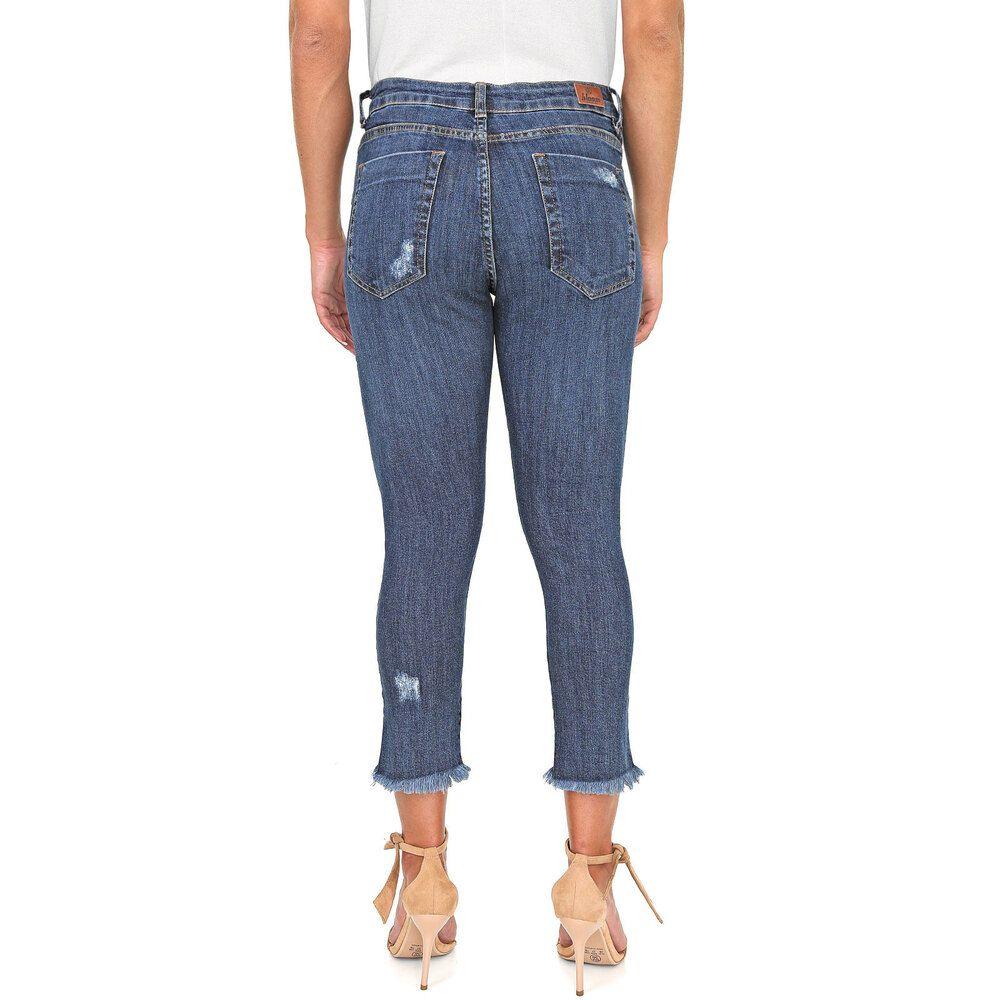 Calça Jeans Cigarrete Lady Destroyed