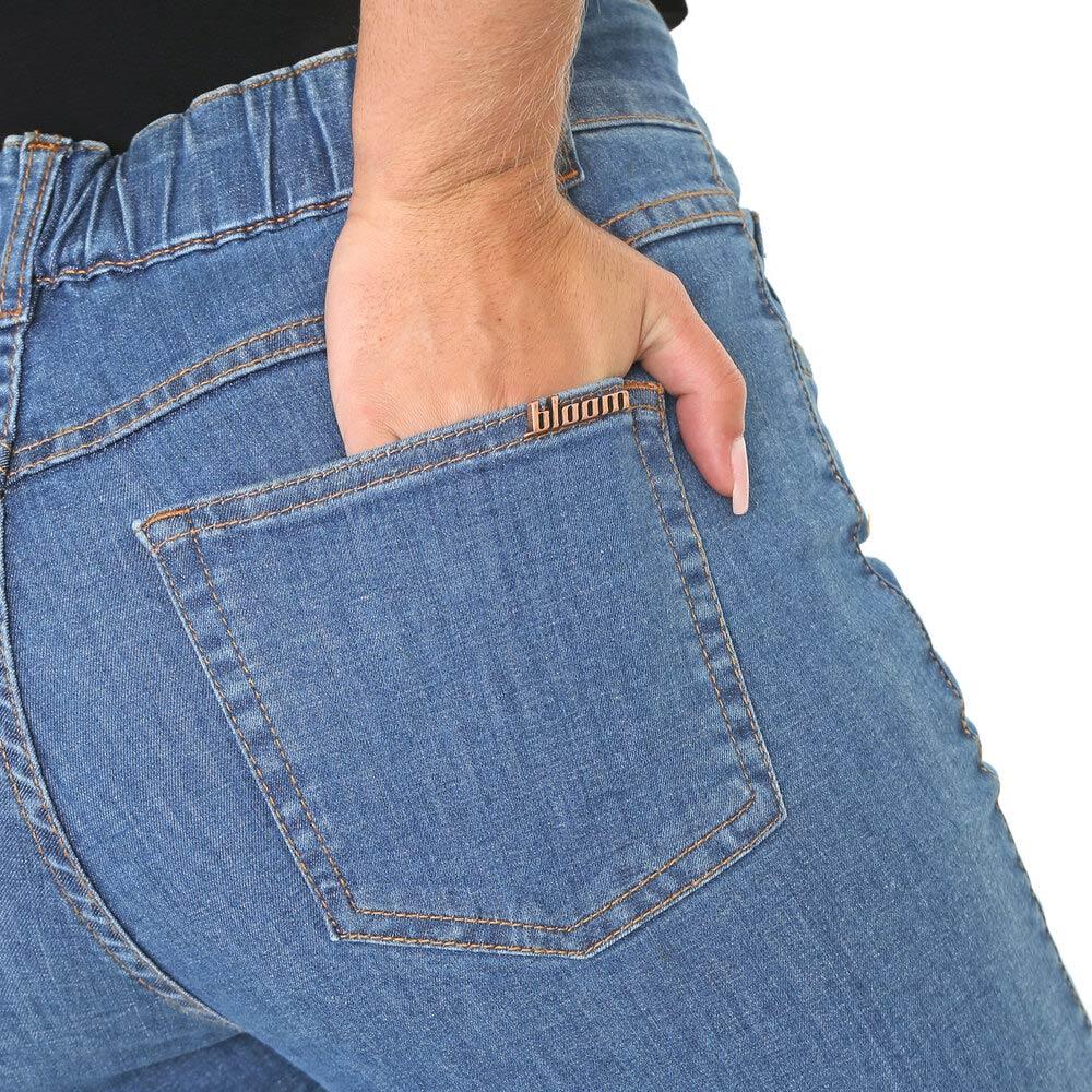 Calça Jeans Cigarrete Suzy Reta Elástico Cintura