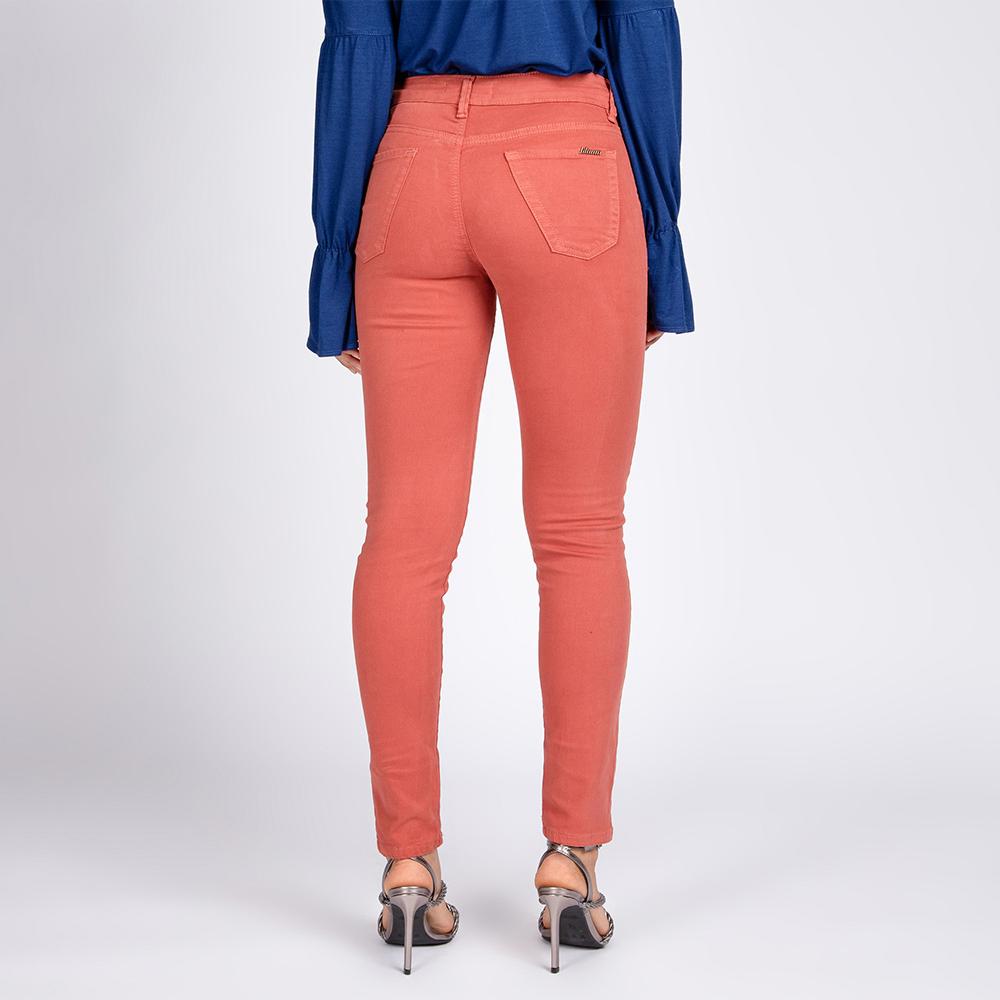 Calça Jeans Color Skinny Thiffany Cor Terracota