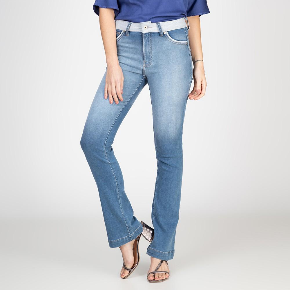 Calça Jeans Flare Taty Cós Avesso