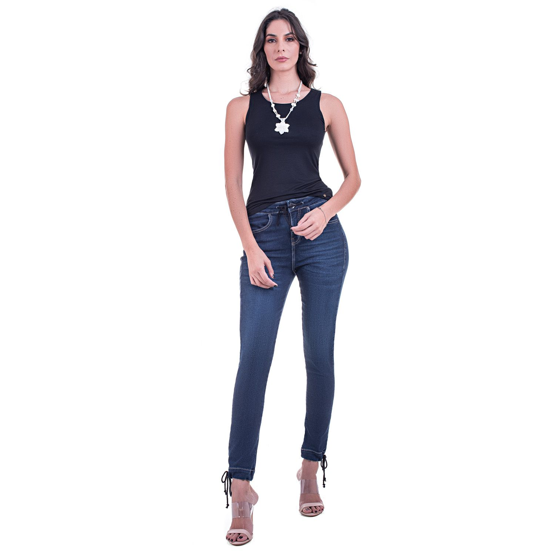 Calça Jeans Jogger Bloom Cordão Barra