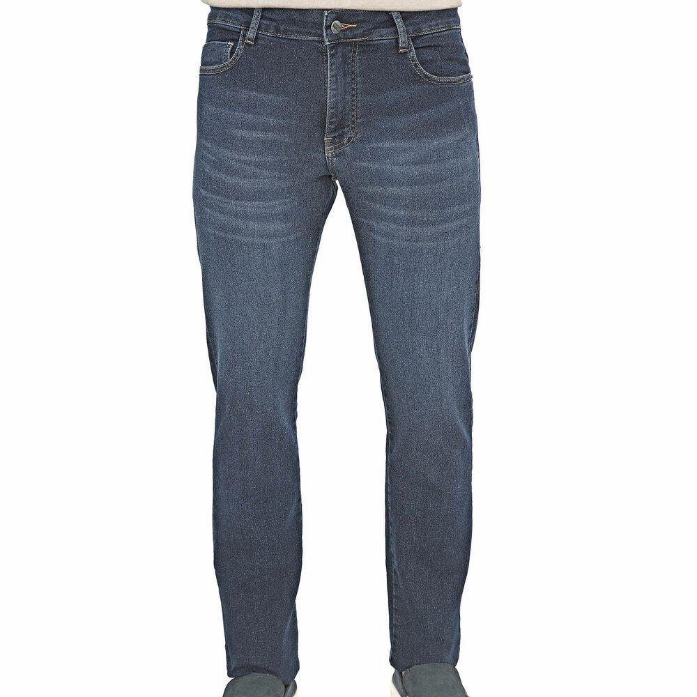 Calça Jeans Masculina Slim Azul Médio