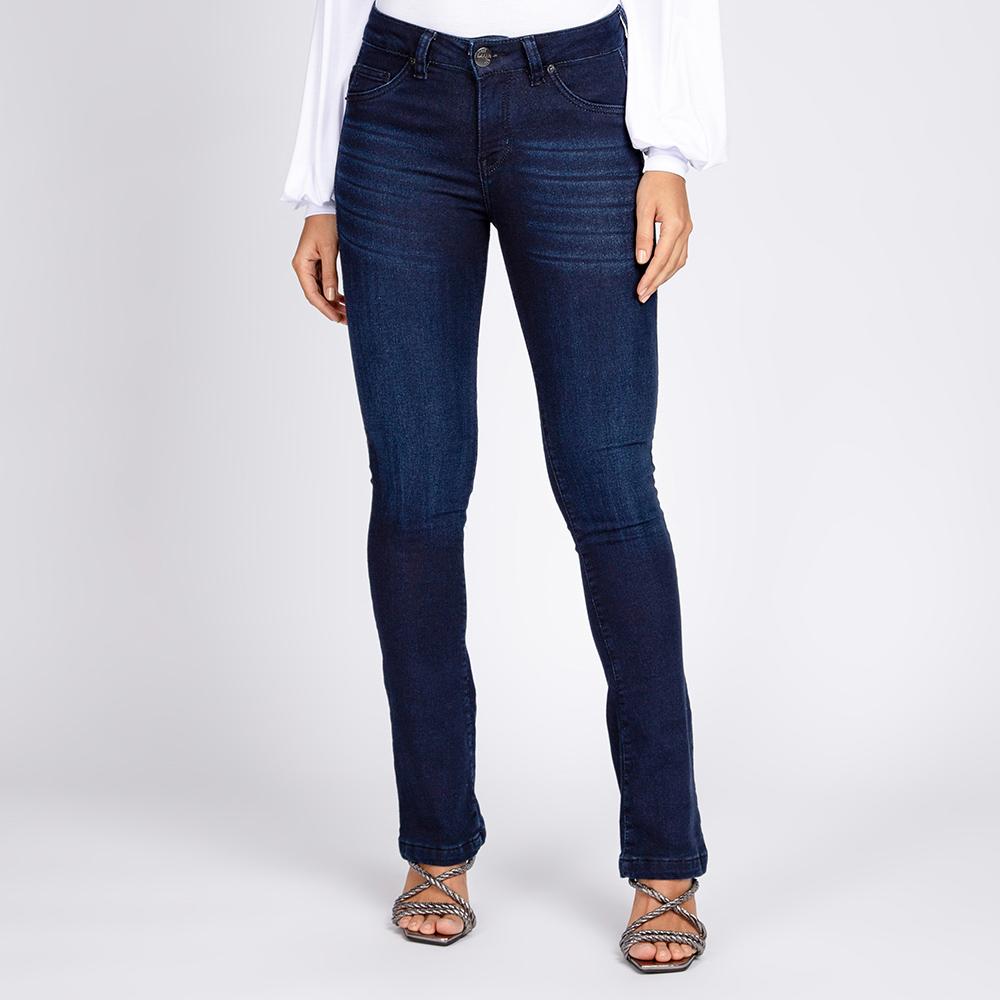 Calça Jeans Moletom Bootcut Azul Escuro