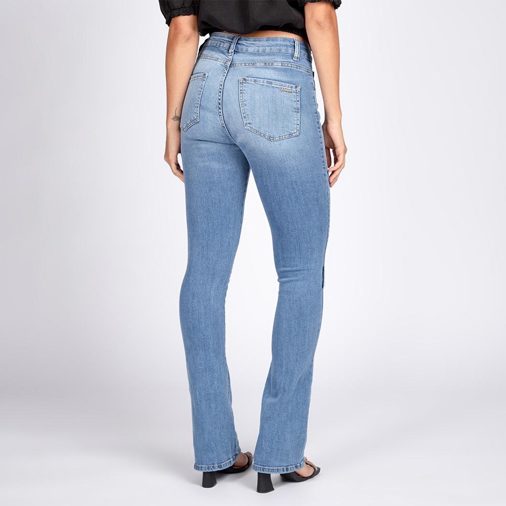 Calça Jeans Reta Clássica Delavê