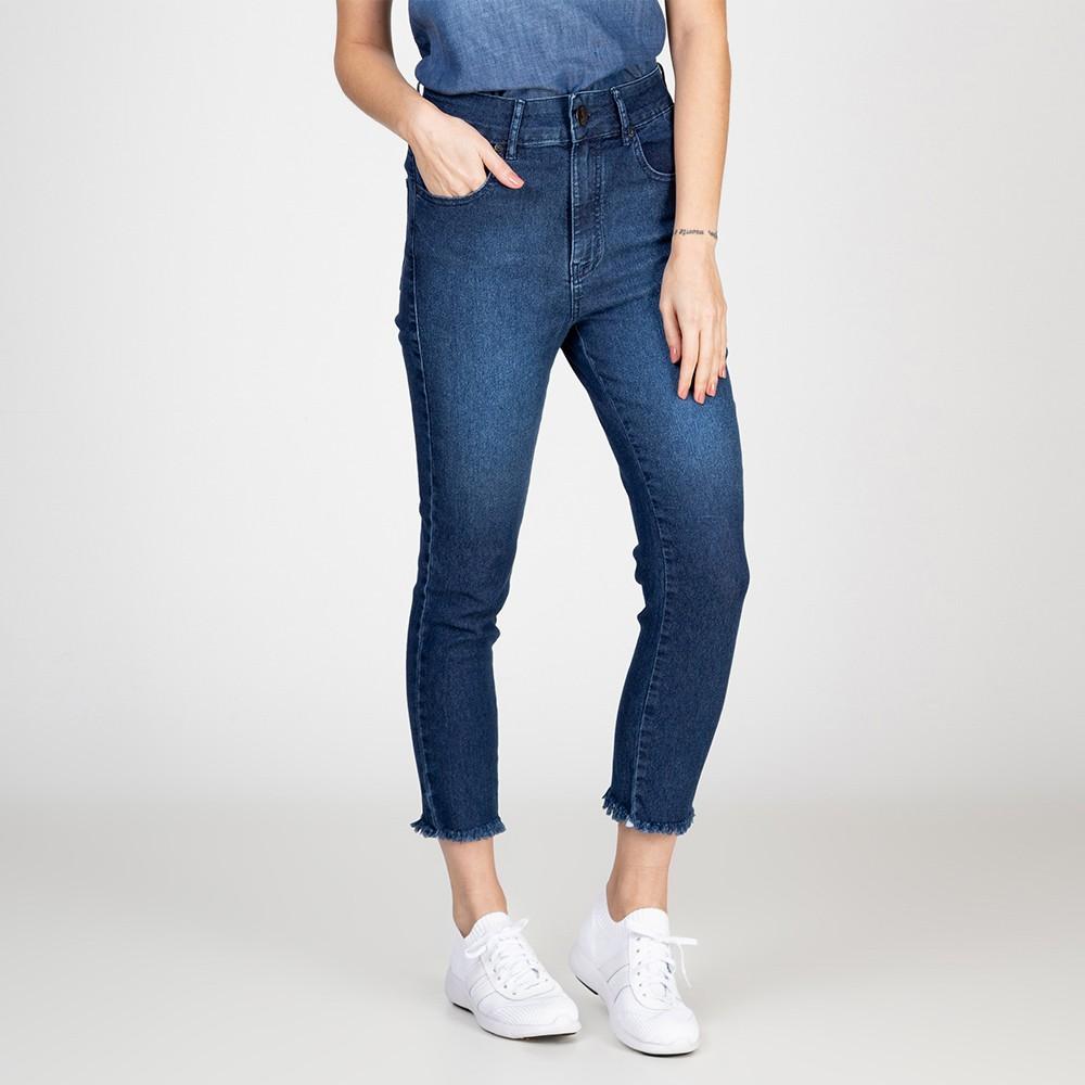 Calça Jeans Skinny Lady Cintura Alta Escura