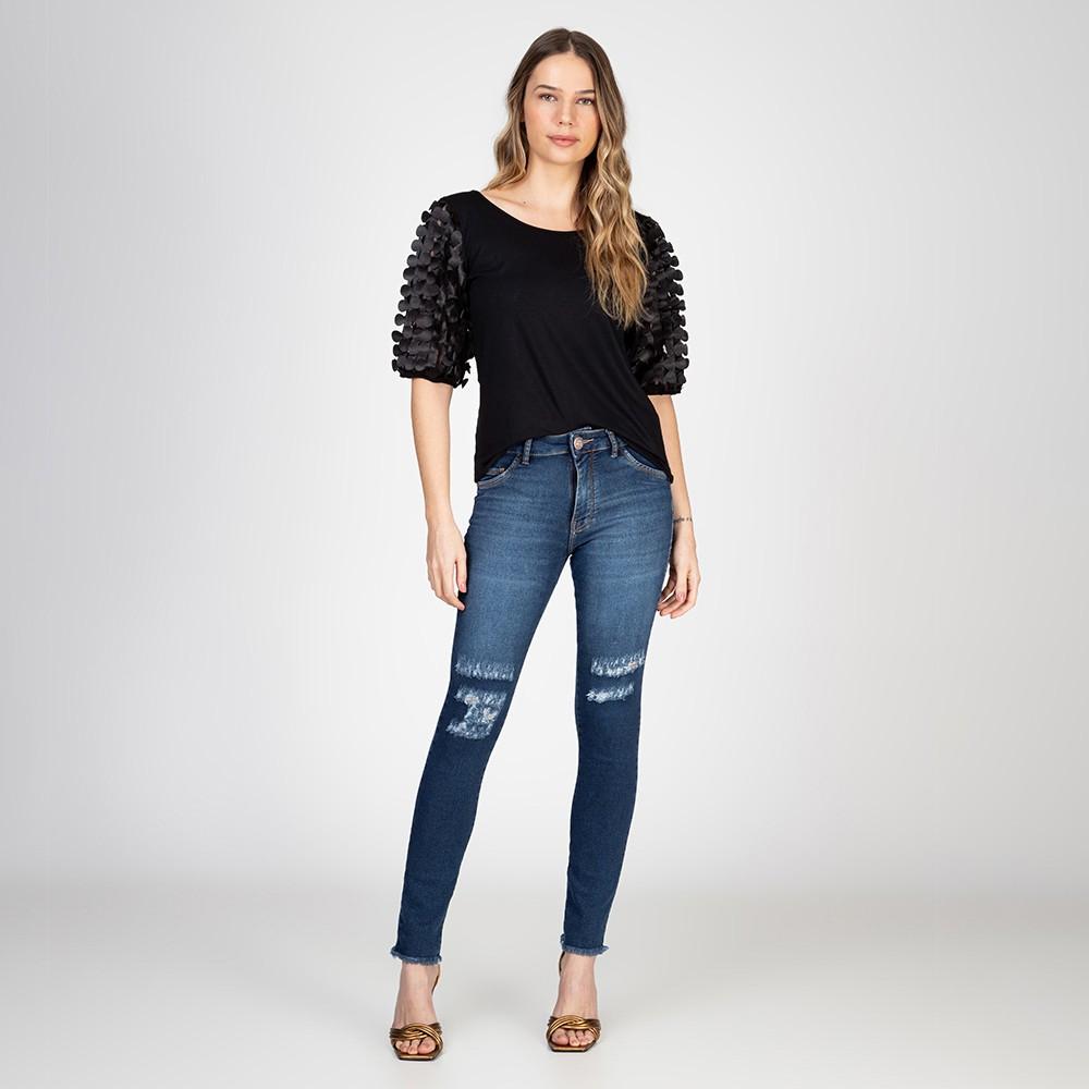 Calça Jeans Skinny Thiffany Rasgos Joelho