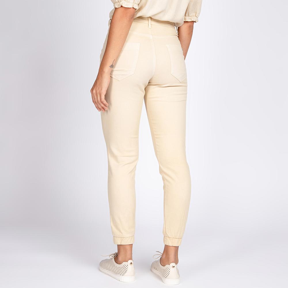 Calça Jogger Jeans Color Cor Off White