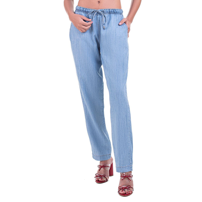 Calça Jogger Jeans Leve Delavê