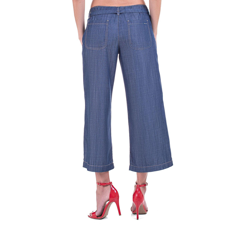 Calça Pantacourt Jeans Leve