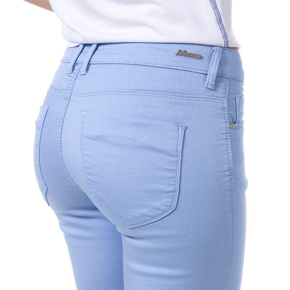 Calça Reta Judy Color Azul Claro
