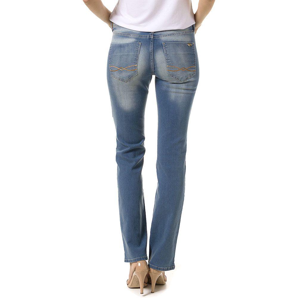 Calça Jeans Reta Judy Delavê