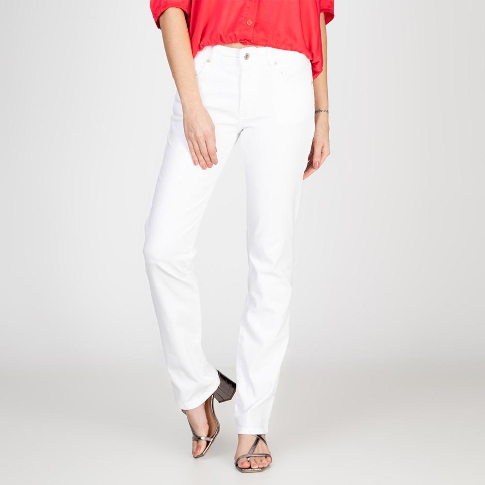 Calça Jeans tipo Moletom Reta Judy Cor Branca