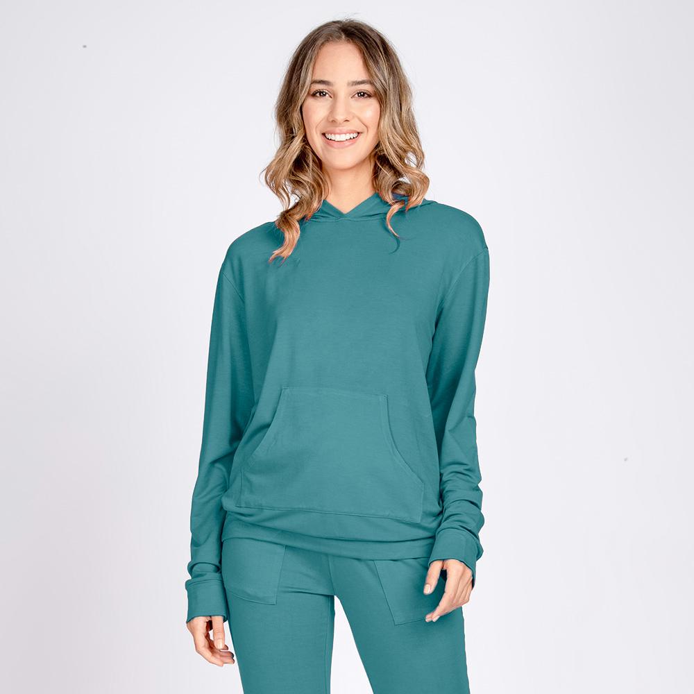 Conjunto Moletom Leve Blusa Bolso Canguru e Calça Jogger Color