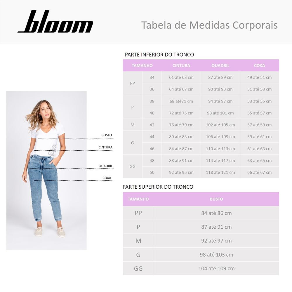 Conjunto Moletom Leve Bloom Blusa Gola V e Calça Jogger