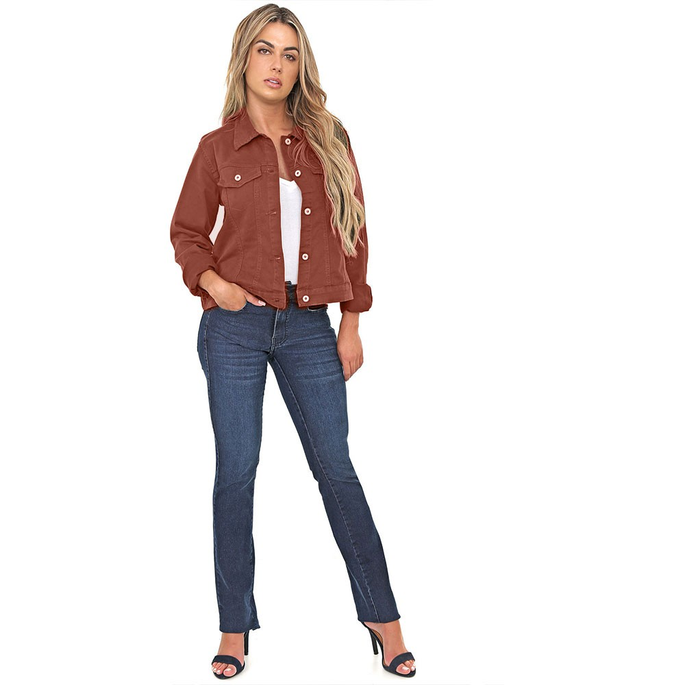Jaqueta Jeans tipo Moletom Color