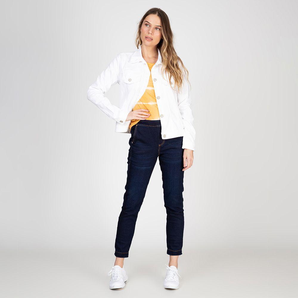 Jaqueta Color em Sarja com Elastano Branca