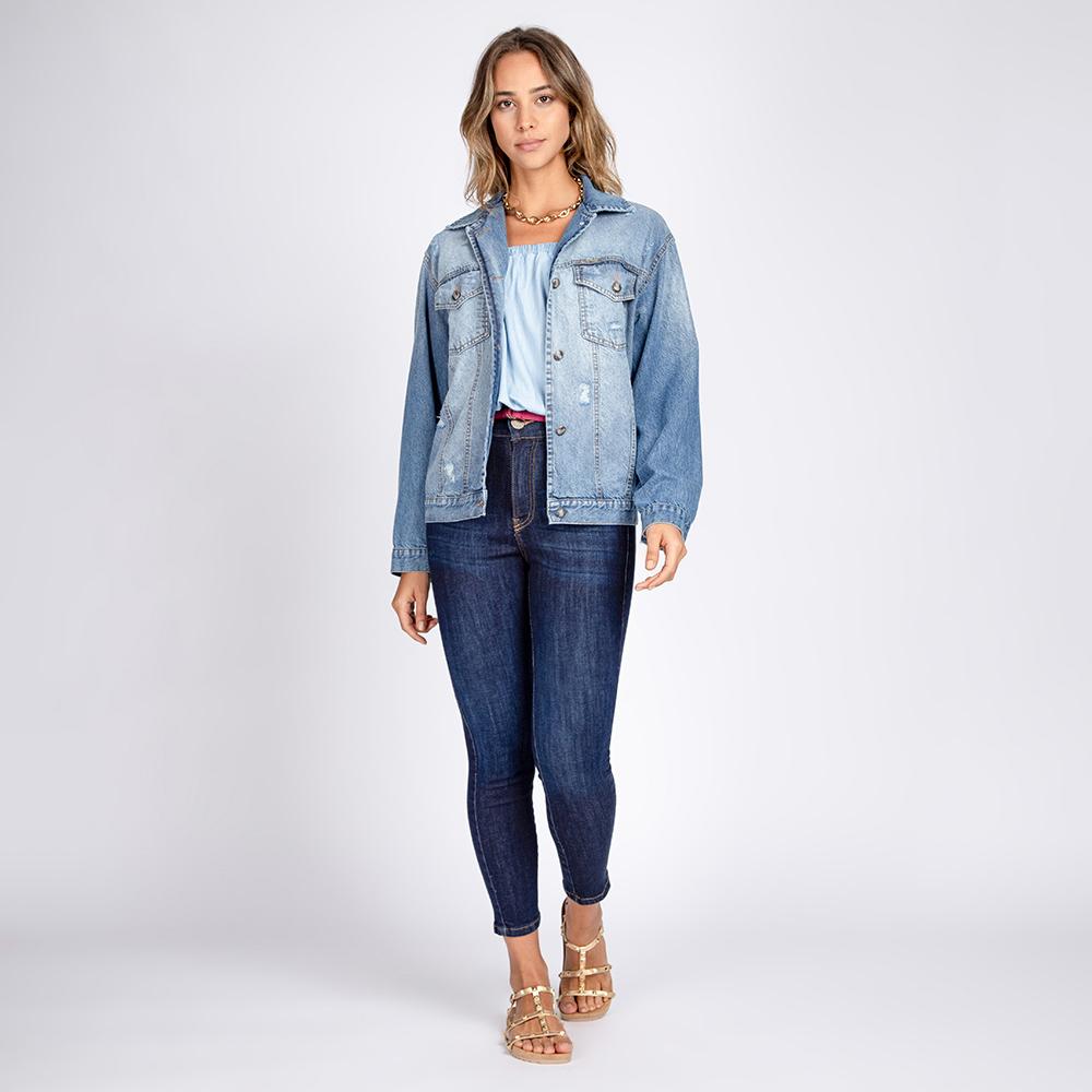 Jaqueta Jeans Ampla Unissex
