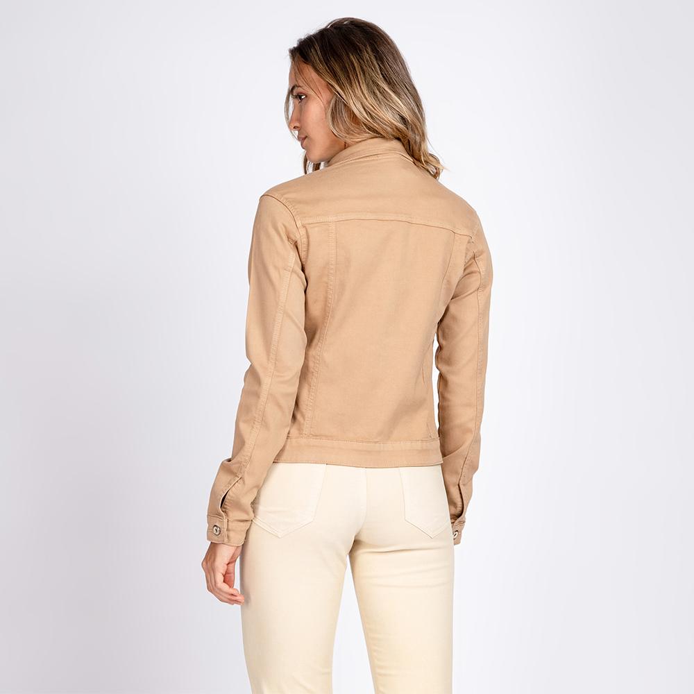 Jaqueta Jeans Leny Classica Cor Camelo