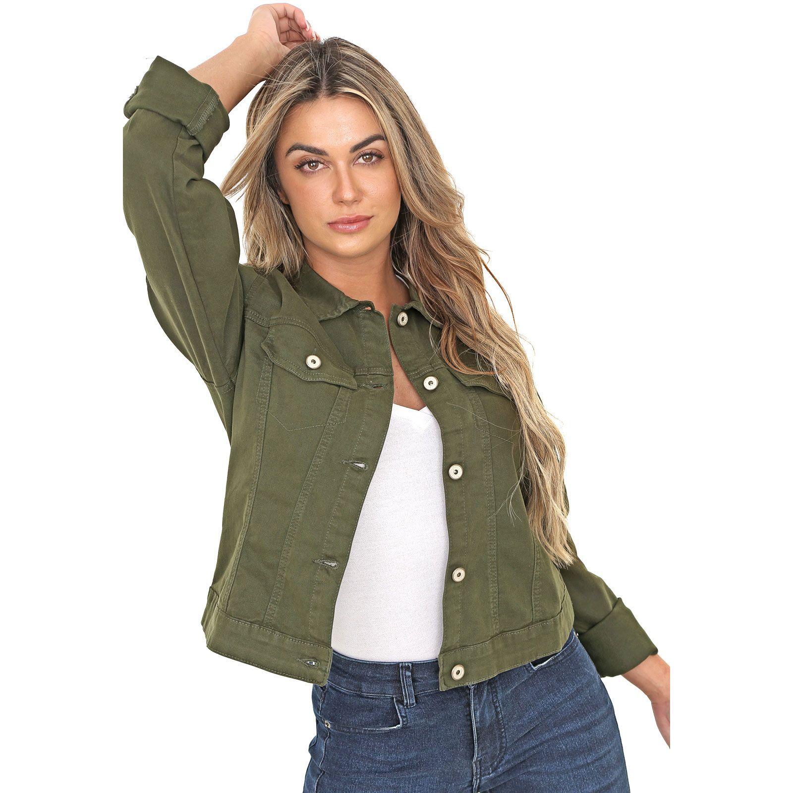 Jaqueta Jeans Leny Verde Musgo
