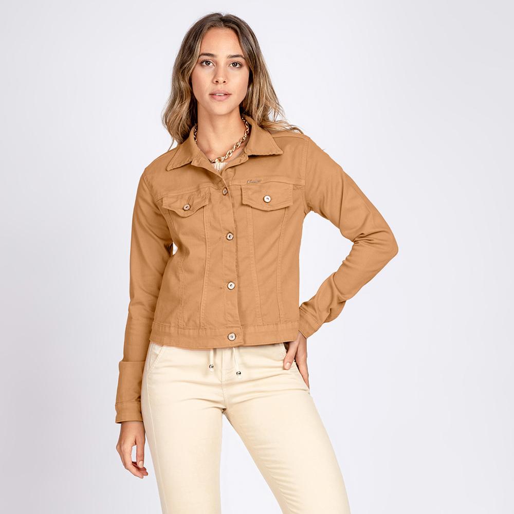 Jaqueta Jeans tipo Moletom Leny Classica Color