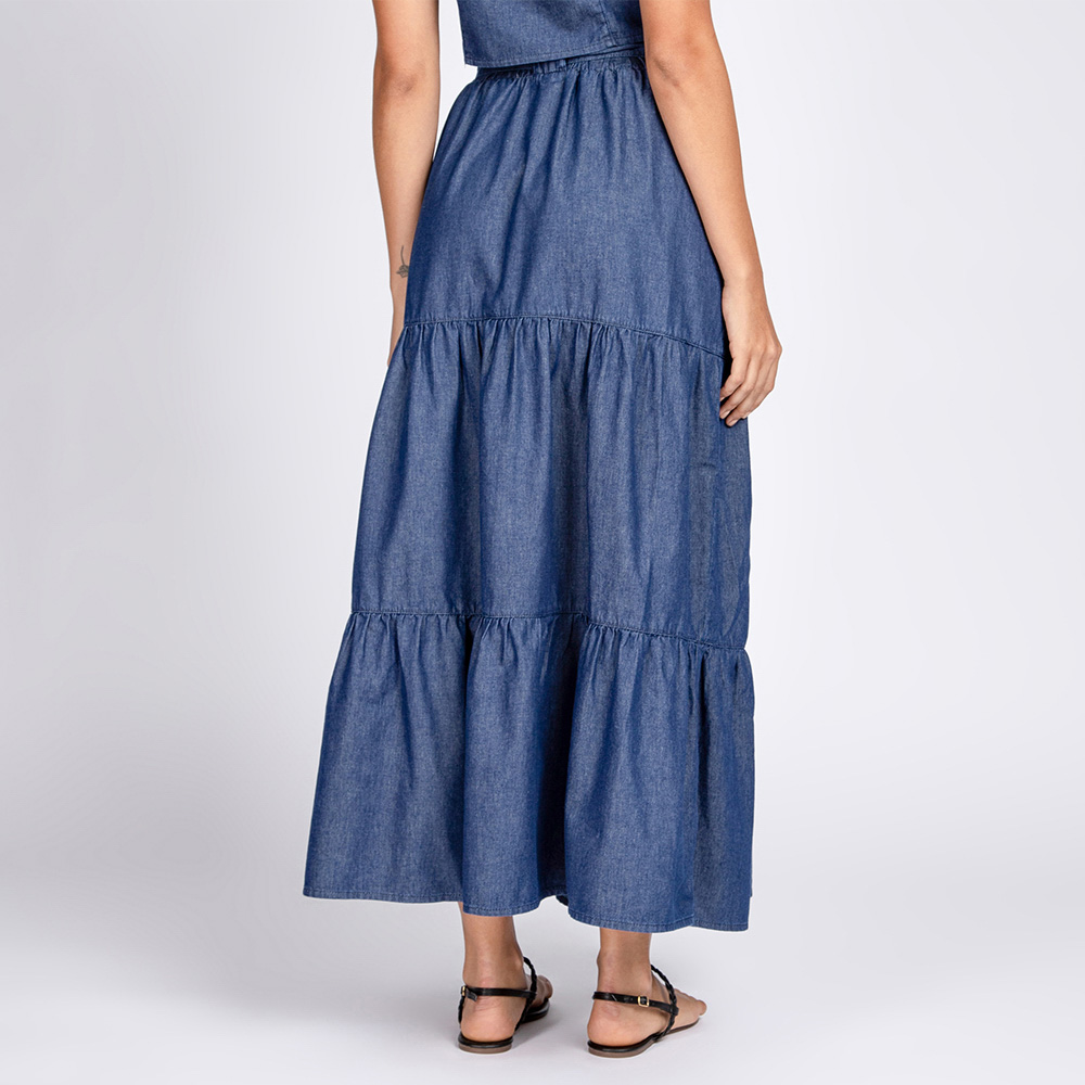 Saia Jeans 3 Marias Azul Escuro