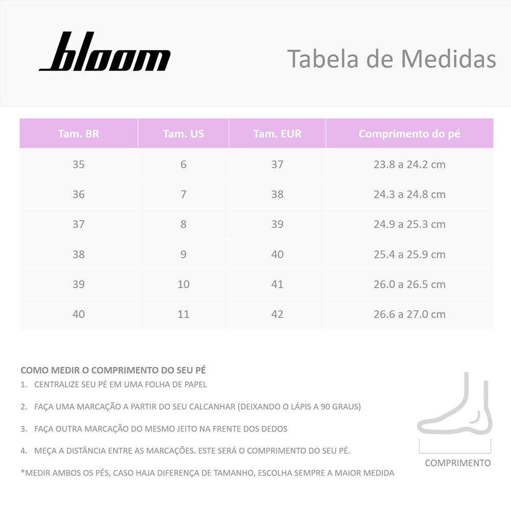 Sandália Bloom Trança Preta