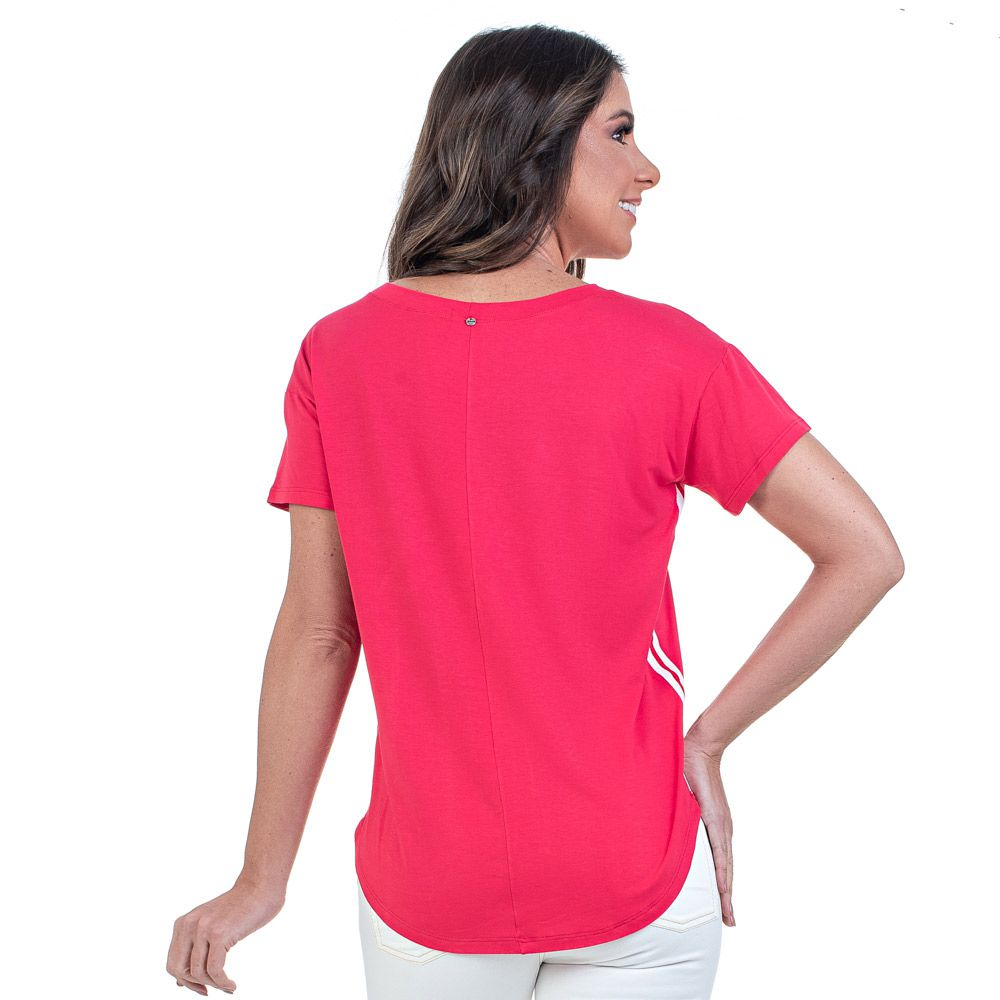 T-Shirt Bloom Detalhe Lateral Pink