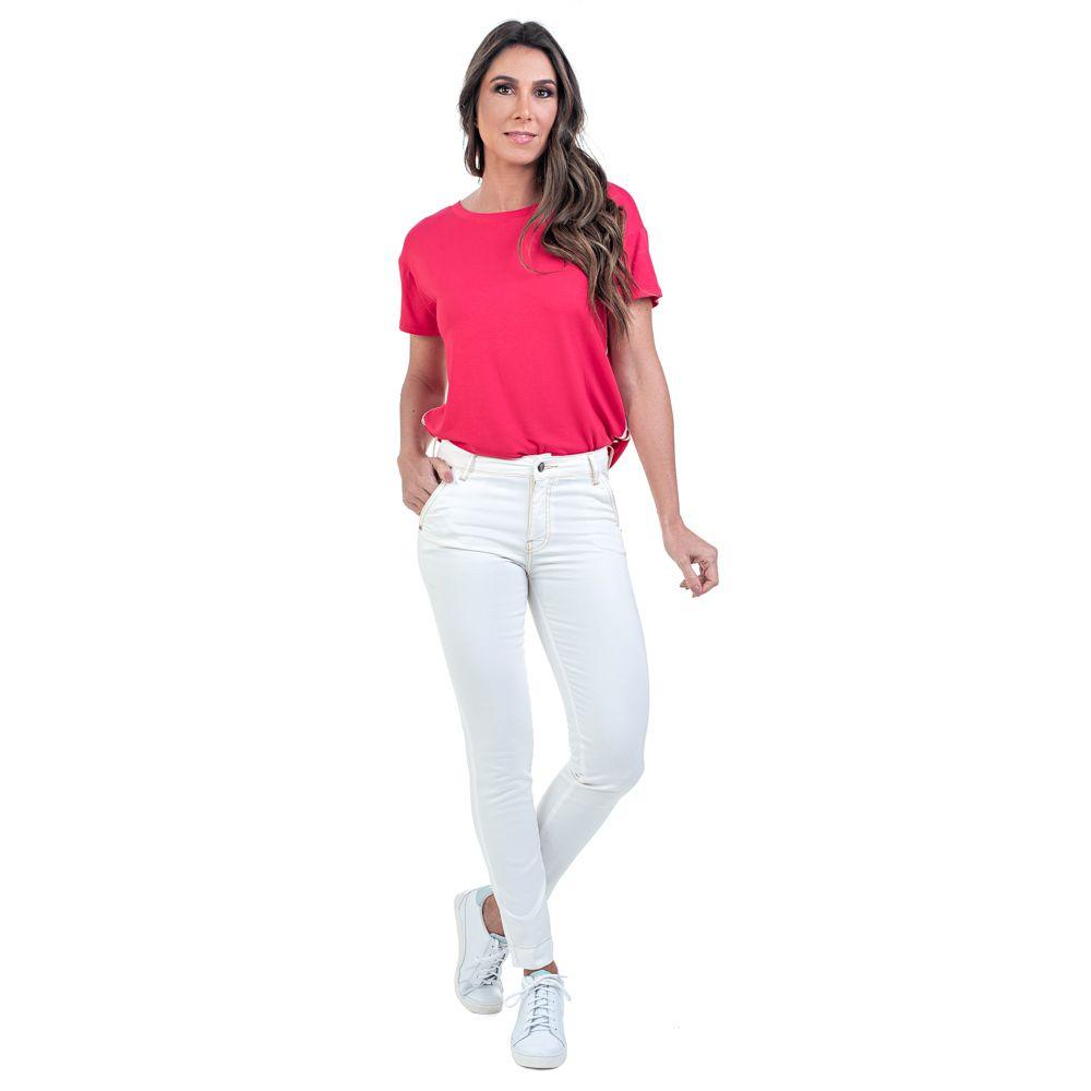 T-Shirt Bloom Detalhe Lateral Pink