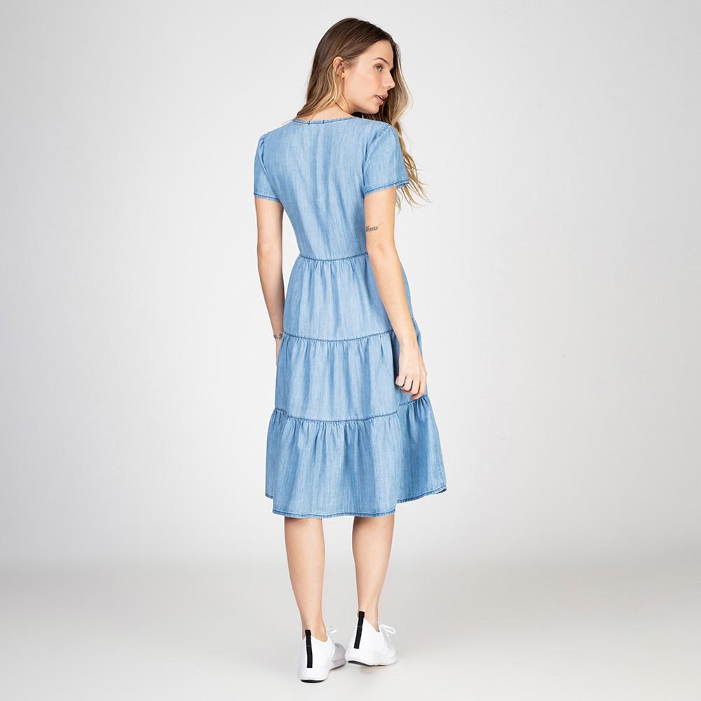 Vestido Jeans Leve 3 Marias Delavê