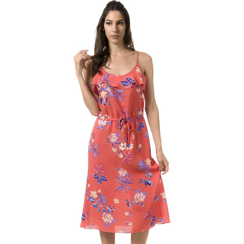 4427f0675 Vestido Midi Viscose Estampado - Bloom Jeans