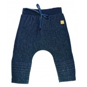 Calça Infantil Unissex em Cotton Blue Denim Grow Up