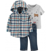 Conjunto Camisa Xadrez Carter's