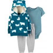 Conjunto Carter's Azul Ursos Fleece