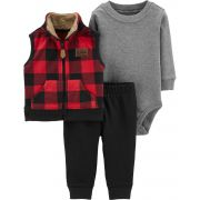 Conjunto Carter's Colete Bufalo Little Polar Explorer