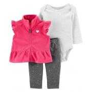 Conjunto Colete Pink Fleece Carter's