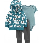Conjunto Elefantes Fleece