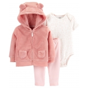 Conjunto Rosa Fofo Fleece Carter's