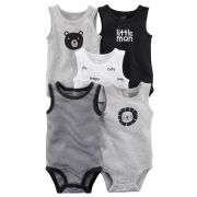Kit Body Carter's Regata Preto/Cinza