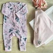 Kit Maternidade Flores e Folhas Nini & Bambini
