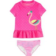 kit Praia Carters Rosa Flamingo