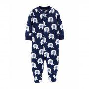 Macacão Carters Dormir e Brincar Elefantes Fleece